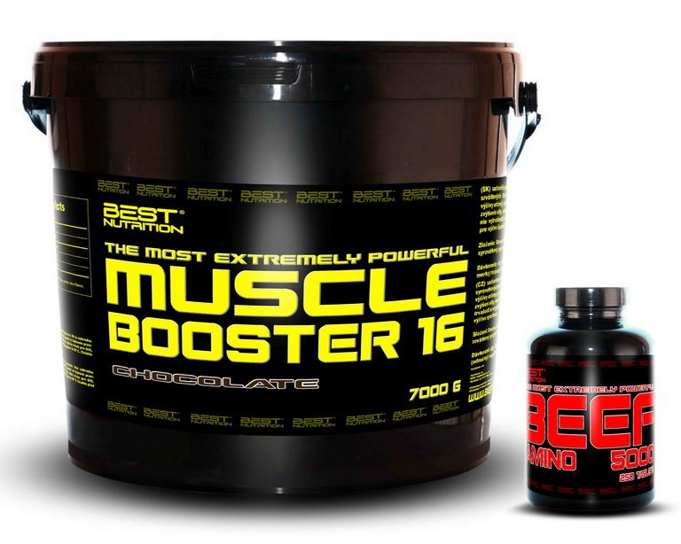 Muscle Booster + BEEF Amino Zadarmo od Best Nutrition 7,0 kg + 250 tbl. Banán