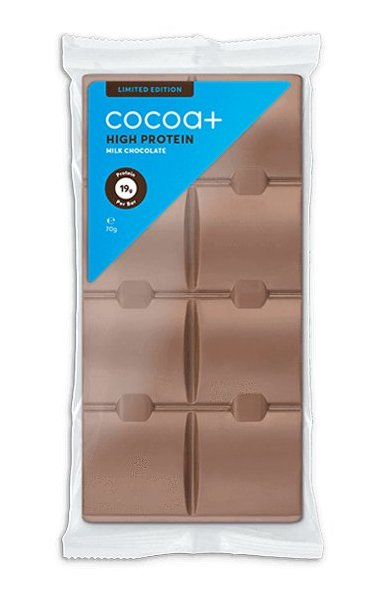 High Protein Milk Chocolate - Cocoa+ 70 g Milk Chocolate