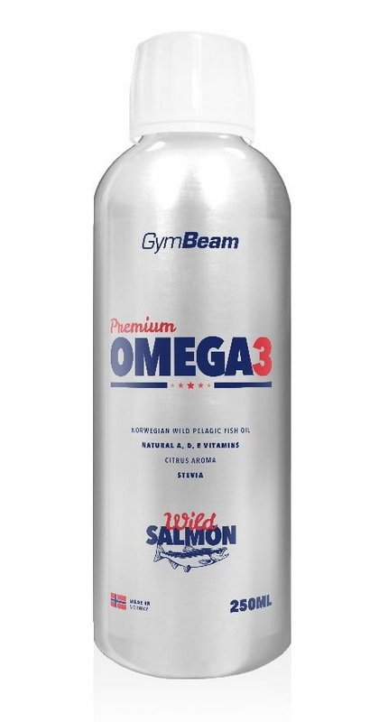 Premium Omega 3 - GymBeam 250 ml. Citrus