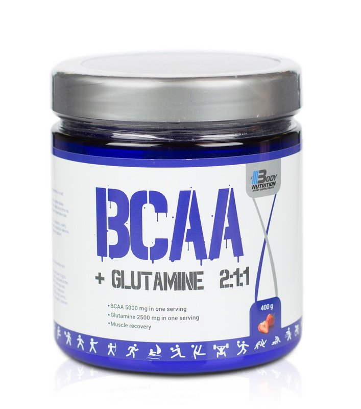 BCAA  Glutamine 2:1:1 - Body Nutrition  400 g Jahoda
