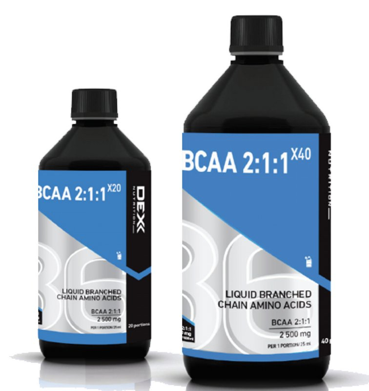 Akcia: BCAA 2:1:1 X40 + 500 ml. zadarmo - Dex Nutrition 1000 ml. + 500 ml. Grapefruit