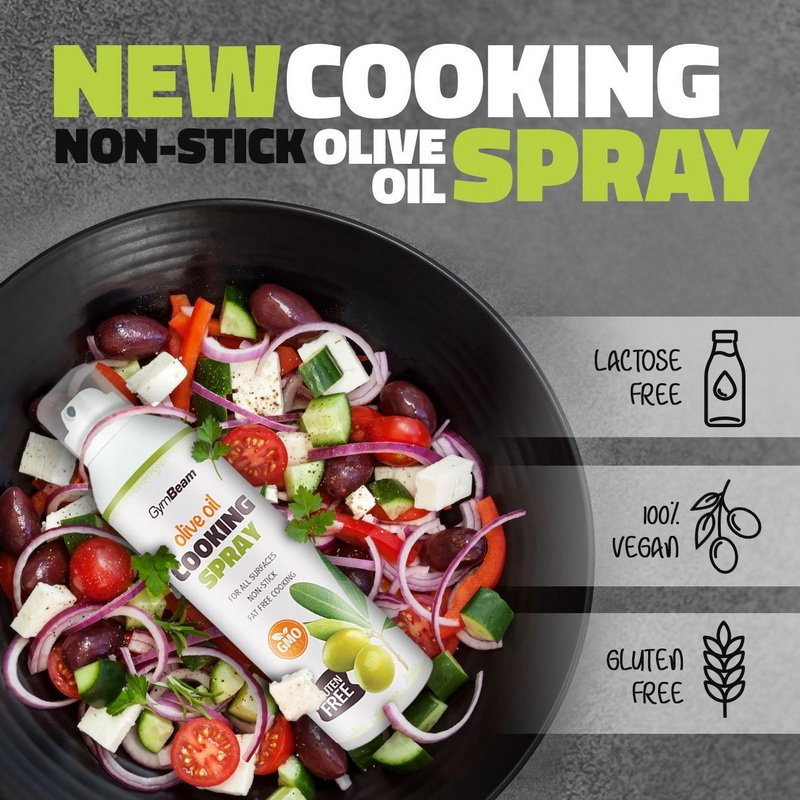 Sprej na pečenie: Olive Oil Cooking Spray - GymBeam 201 g