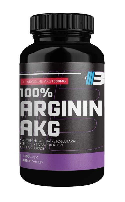 100 percent Arginin AKG - Body Nutrition 120 kaps.