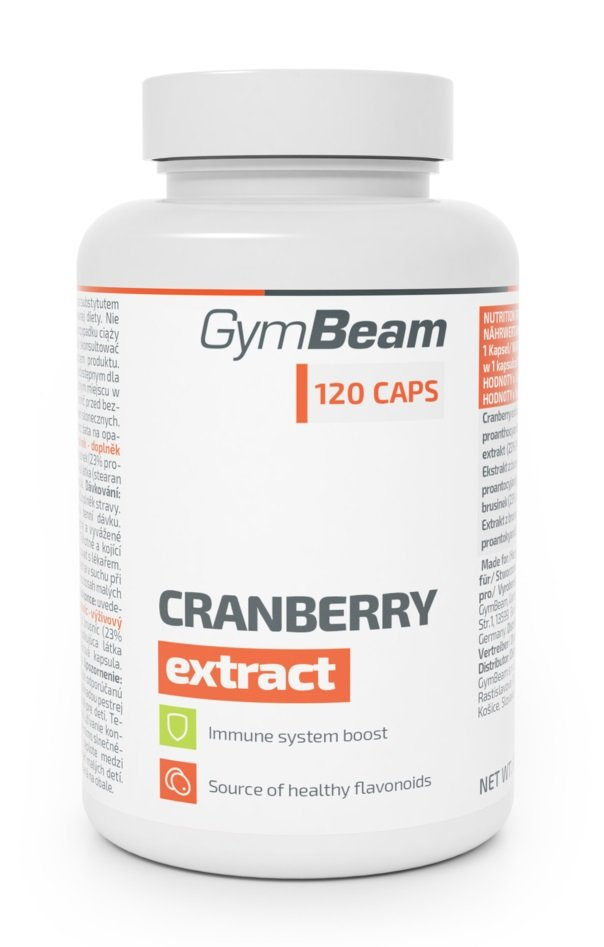 Cranberry Extract - GymBeam 120 kaps.