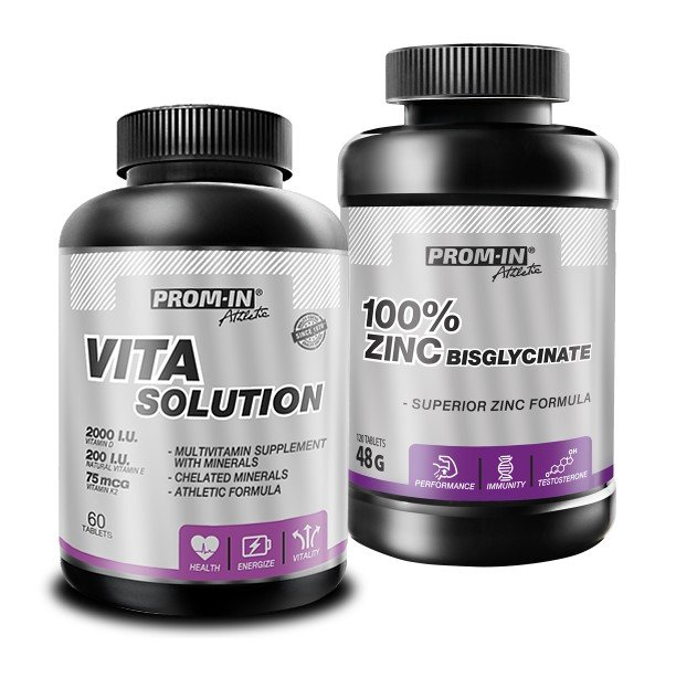 Akcia: Vita Solution  100 percent Zinc Bisglycinate - Prom-IN 60 tbl.  120 kaps.