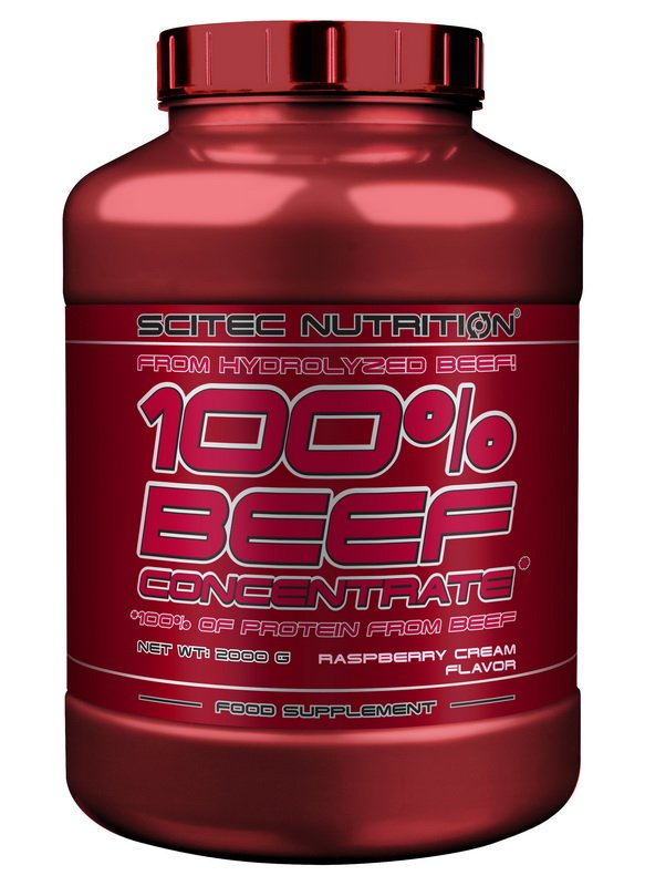 100 percent BEEF Concentrate - Scitec Nutrition 2000 g KaramelVanilka